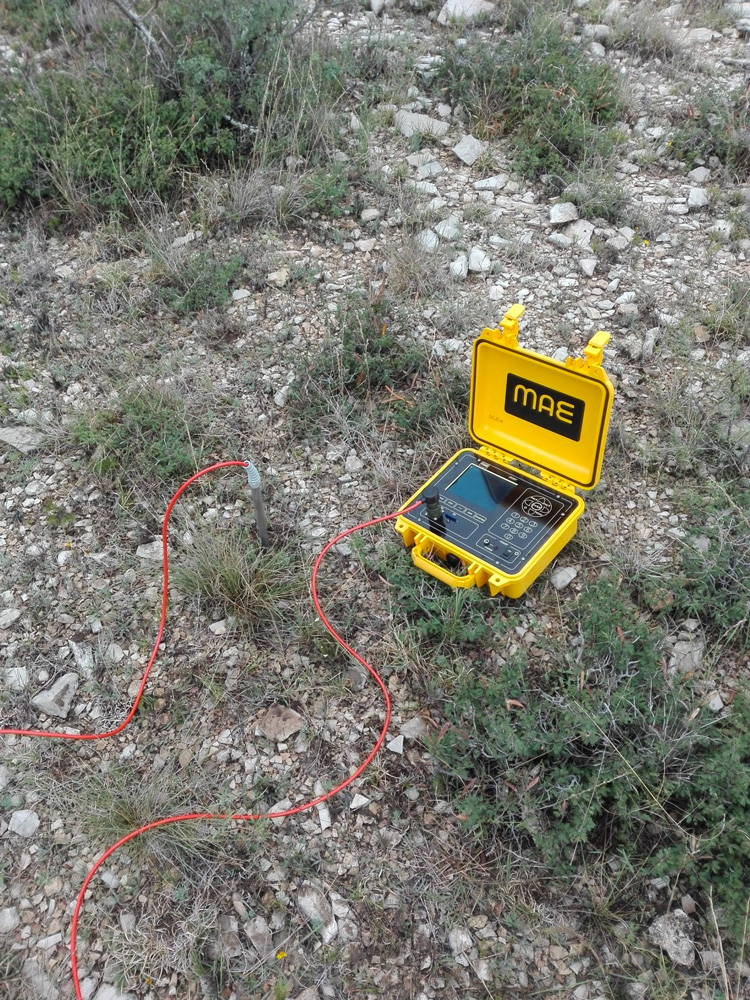 Thermal soil analysis to characterize the active plants root zone