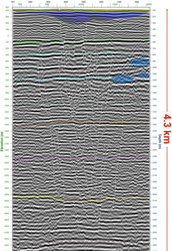 Seismic reflection on Geothermal Exploration for mapping the subsurface down to 4'500 m in Coppet, Switzerland (2015)